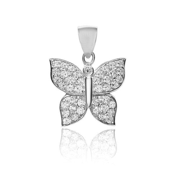 Pandantiv din argint Papillon